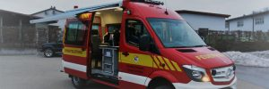 Mit Peplink ausgestattetes Einsatzfahrzeug der Feuerwehr Wangen